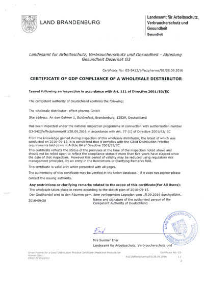 GDP Certificate